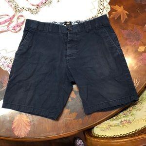Navy blue trouser shorts